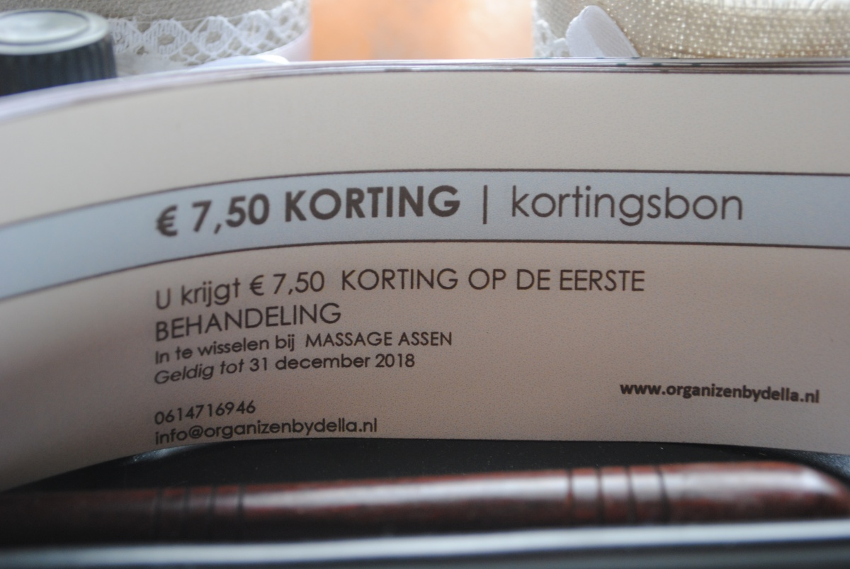 ACTIE! Kortingsbon van €7,50 voor jouw massage behandeling bij Massage Assen!