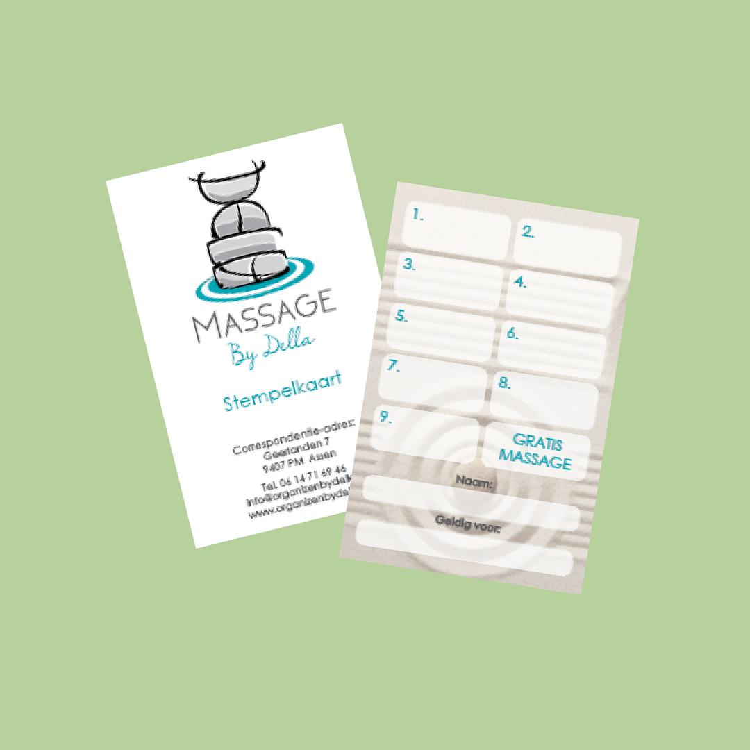 NIEUW! Stempelkaart: 10e massage gratis