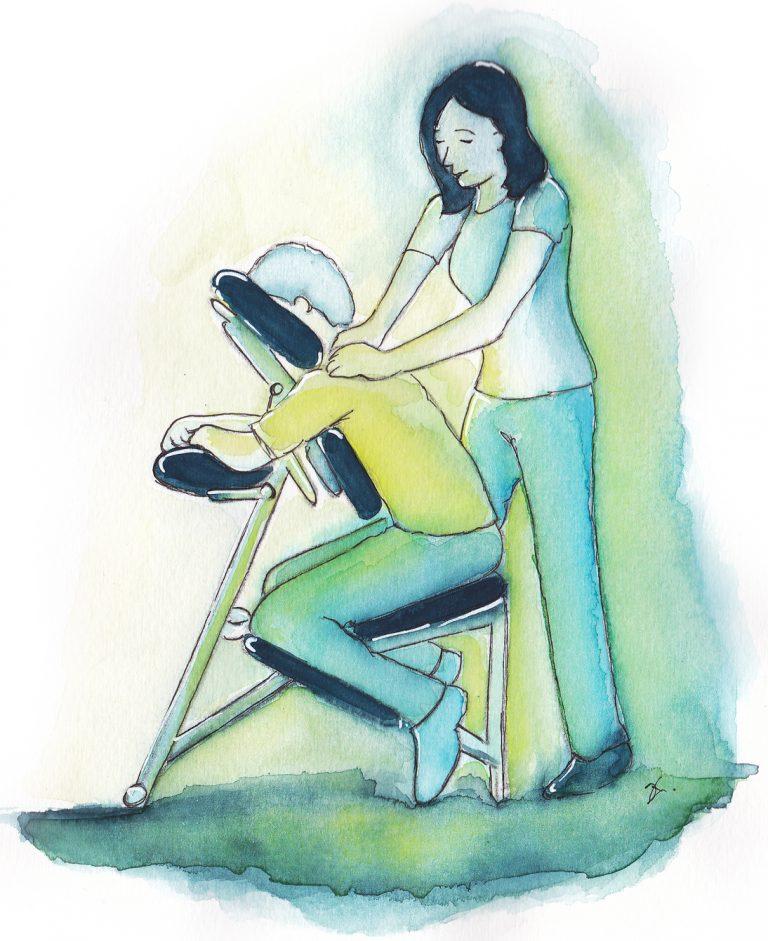 Stoelmassage assen massage